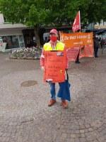 Sindelfinger Aktionseinheit setzt kämpferische Kundgebung auf dem Marktplatz durch!