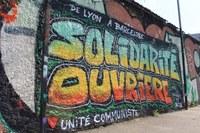 Sprühaktion zur Solidarität mit den Nissan Arbeitern