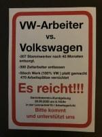 Nächster Gütetermin von befristeten VW Stammwerkern gegen die Volkswagen AG am Freitag 28. August