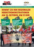 Kommt zu den regionalen Herbstdemonstrationen am 10. Oktober um 12 Uhr nach Berlin, Düsseldorf, Stuttgart