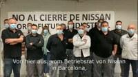 Video-Grußbotschaft des Nissan-Betriebsrats aus Barcelona an die Daimler-Kollegen