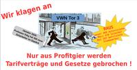 VW Komitee Hannover verteilt mit den entlassenen Befristeten Sitech Kollegen und Familien das neue Flugblatt mit der Hannoveraner Erklärung