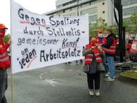 Kämpferischer Aktionstag bei Opel in Rüsselsheim