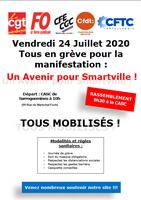 Freitag, 24. Juli 2020 - Alle streiken für die Demonstration: Eine Zukunft für Smartville! Macht alle mit!