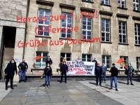 Militant Mayday Greetings from colleagues of Opel Bochum and Ruesselsheim in Germany
