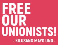 Philippines KILUSANG MAYO UNO (KMU): RELEASE RAMIR CORCOLON AND ARNEDO LAGUNIAS!