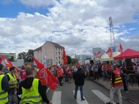 Successful day of strike of the CGT in Sochaux